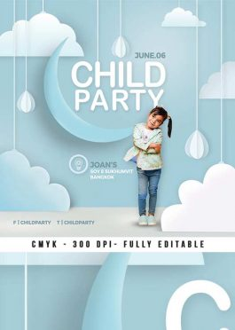Child Birthday Party Multipurpose Flyer Template