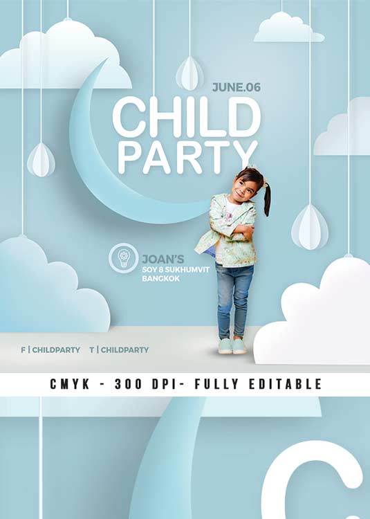 Child Birthday Party Multipurpose Flyer Template download