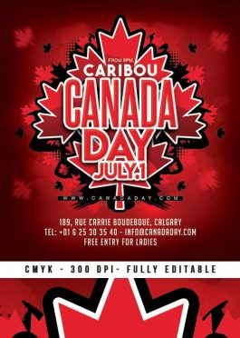 Canada Day Celebration Party Flyer Template