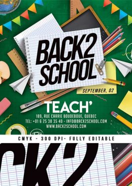 Special Back 2 School Club Party Flyer Template download