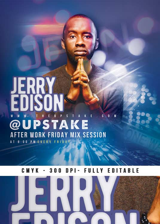 DJ Afterwork Mix Session Flyer