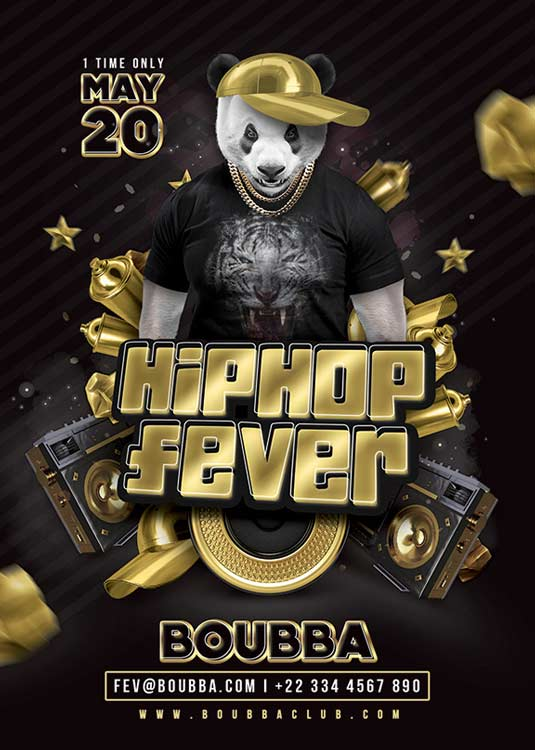 Hiphop Fever Club Flyer Template