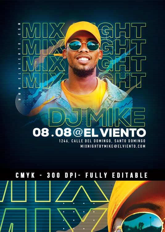 DJ Mix Session Nightclub Event Flyer Template
