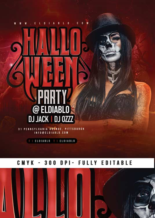 Special Halloween Party Themed Flyer Template