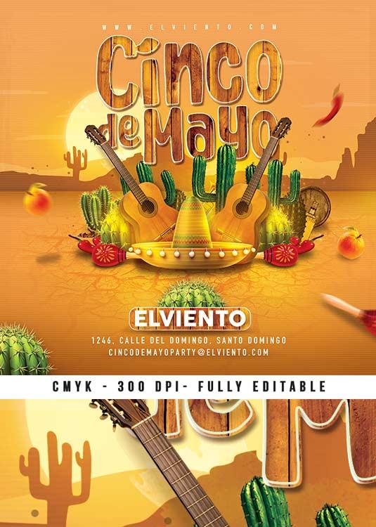 Mexico Cinco De Mayo Celebration Flyer Template