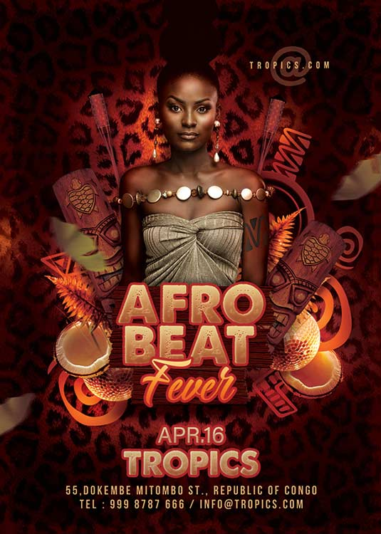 Special Afro Beat Themed Club Flyer Template