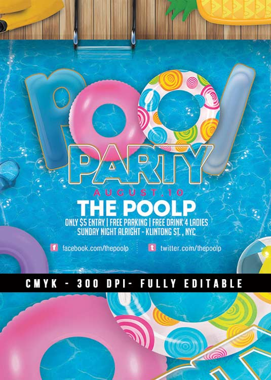 Special Seasonal Summer Party Club Flyer Template