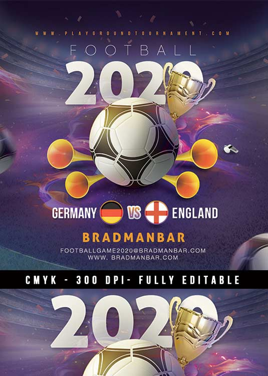 Live European Football Cup Bar Pub Flyer Template