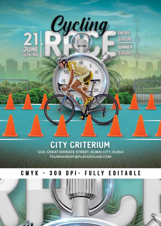Special Criterium Cycling Race Event Flyer Template