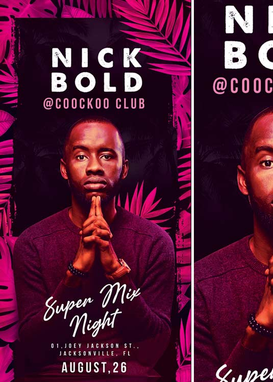 DJ Super Mix Rack Night Club Party Flyer Template