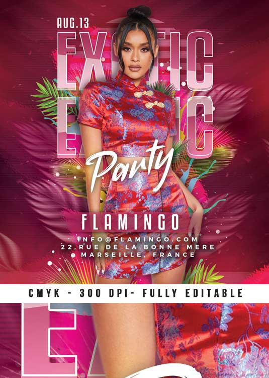 Special Themed Exotic Club Night Flyer Template