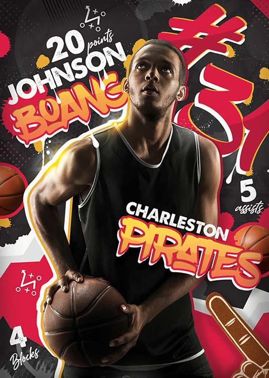 Best Basketball Player Record Sport Flyer Template