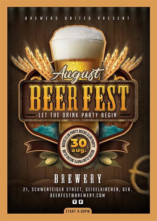Special Themed Beer Fest Night Flyer Template